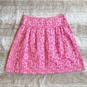 Lilly Pulitzer A-Line Floral Eyelet Skirt